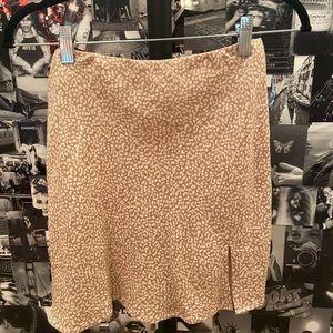 Princess Polly Beige Cheetah Print Skirt Sized 4
